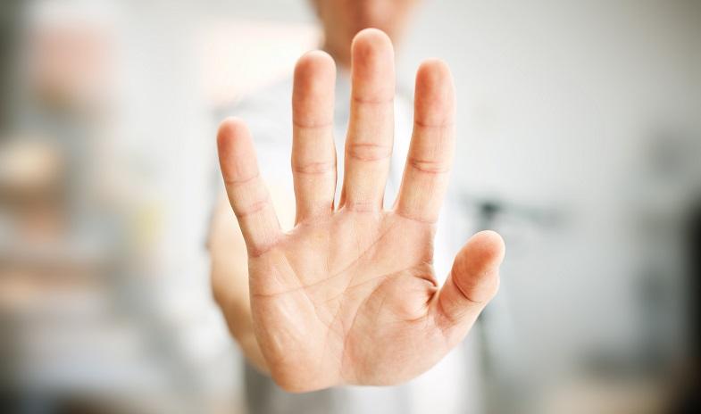 hand stop gesture