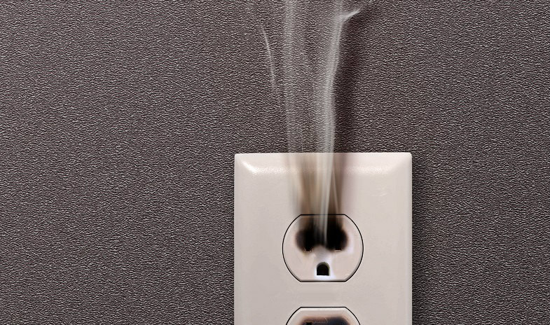 smoking-electrical-outlet